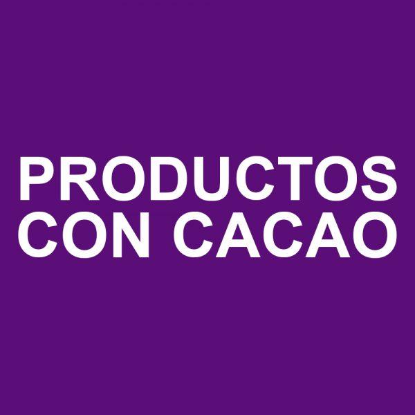 Productos con cacao